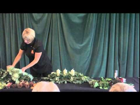 How to make a Christmas Table Centre - Floral Demo by Fiona Penny - YouTube