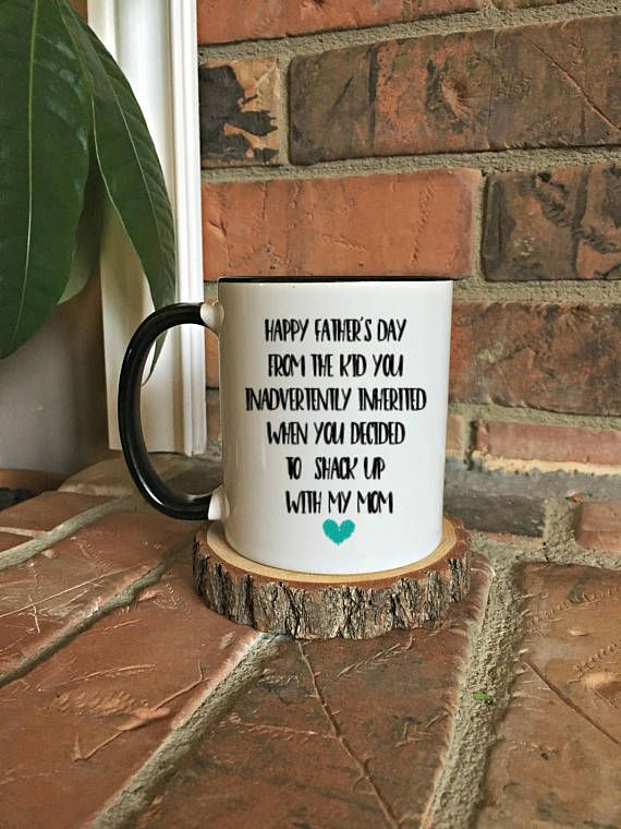 Funny Step Dad Fathers Day Mug,Step Dad mug,Happy Fathers Day mug,Father's d...