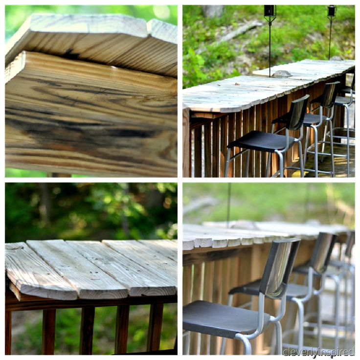 Cool Rustic Outdoor Bar Area! DIY