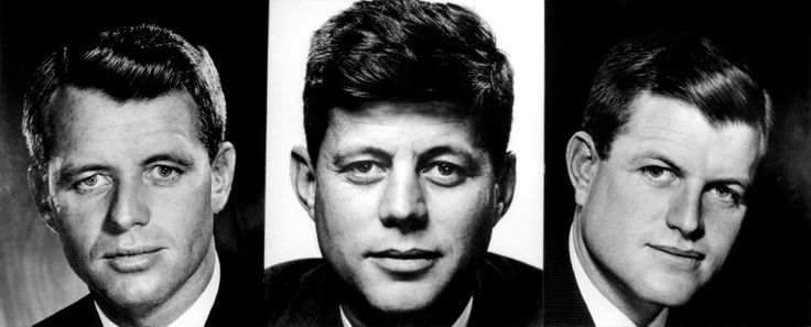 The KENNEDY brothers. From left to right: Robert F., US Attorney General (1961), John F., US Senator (1952), Edward M., US Senator, (1962).