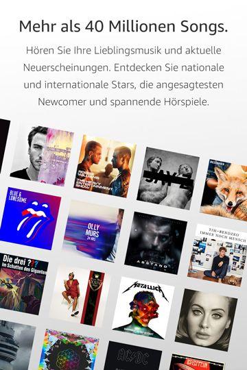 Amazon Music Unlimited 40 Millionen Songs