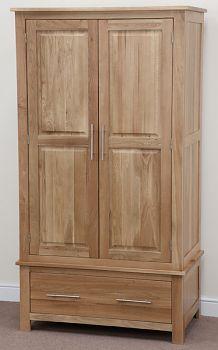 Rivermead Natural Solid Oak Wardrobe