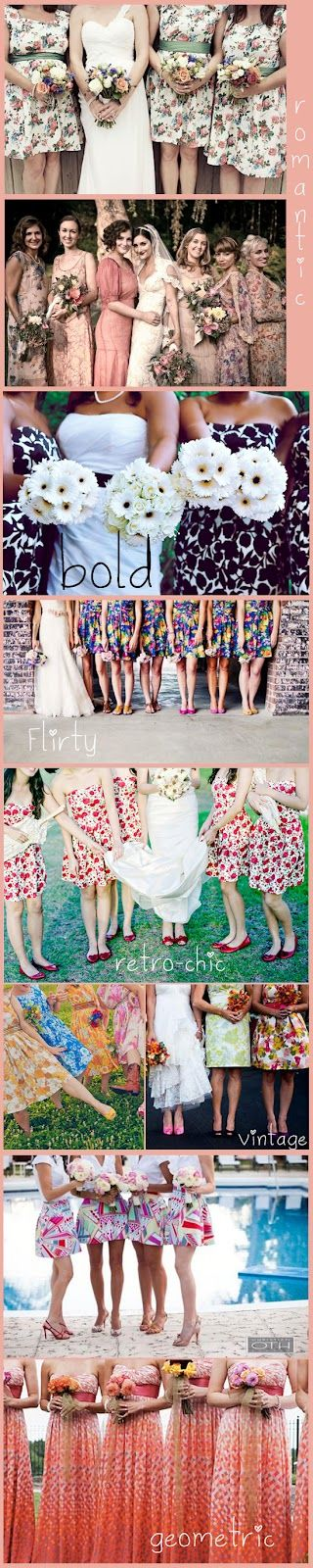 My Wedding Reception Ideas Blog: Pretty Patterned Bridesmaid Dresses
