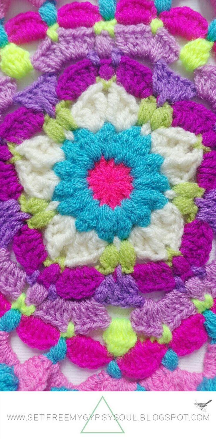 Flor Ganchillo Facil. Perfect Flor De Croche Rasteirinha Aprendendo ...