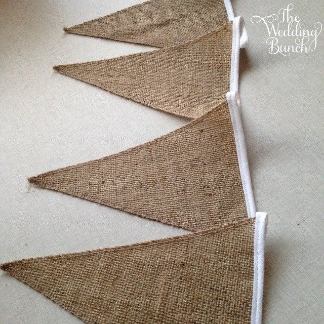 Hessian/Burlap Bunting!! Add Lace too if you like :)