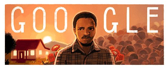 Hats off to #Google #GoogleDoodles for marking Steve Biko's 70th birthday today.