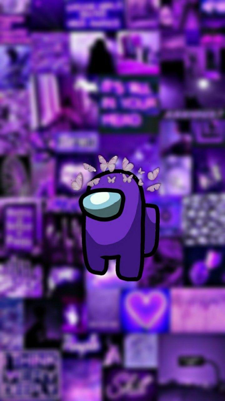 Among us wallpaper. Purple   Wallpaper iphone cute, Purple ...