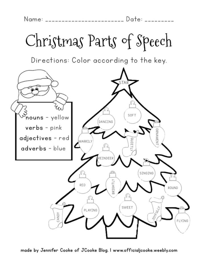 FREE Parts Of Speech Worksheets Parts Of Speech Worksheets, Parts Of  Speech, Christmas Worksheets