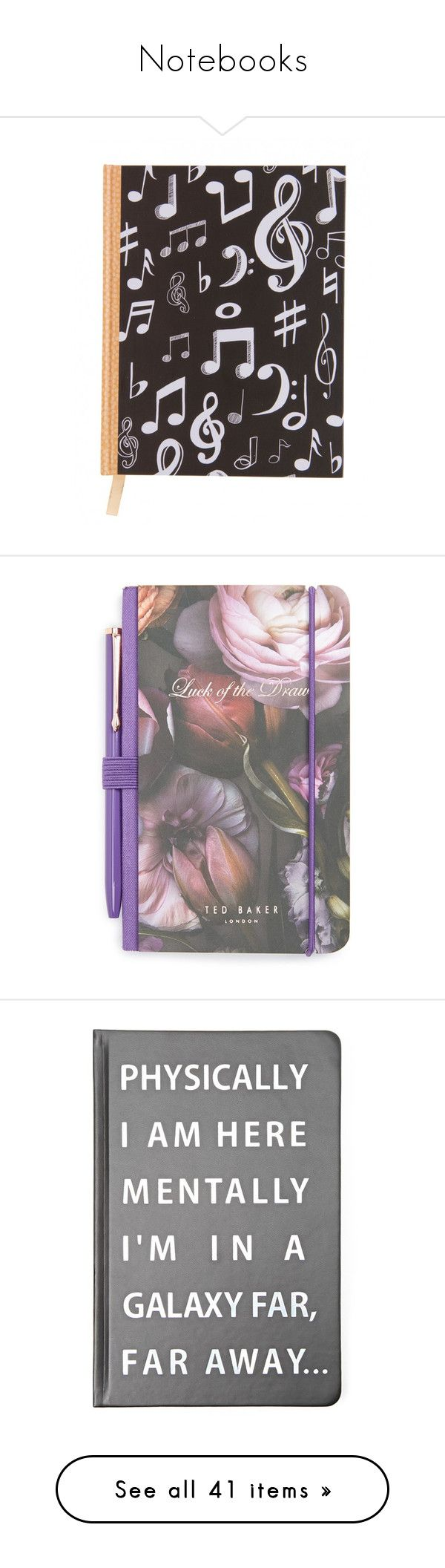 """""""Notebooks"""" by carlou863 on Polyvore featuring home, home decor, stationery, office accessories, books, accessories, filler, office, purple multi et purple pen"""