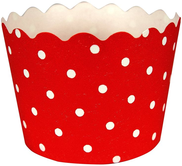 Creative Converting 12 Count Polka Dot Baking Cups, Classic Red *** Special offer just for you. : Baking Accessories