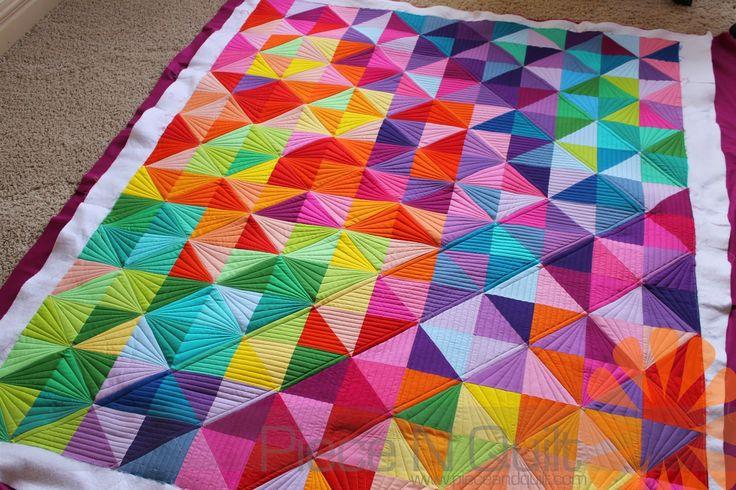 Piece N Quilt Half Square Triangle Quilt Custom Machine