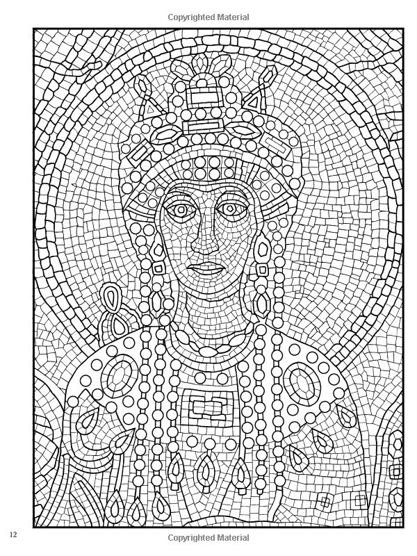 Creative Haven Mosaic Masterpieces Coloring Book (Dover Design Coloring Books): Marty Noble, Creative Haven, Coloring Books for Adults: 9780486497488: Amazon.com: Books