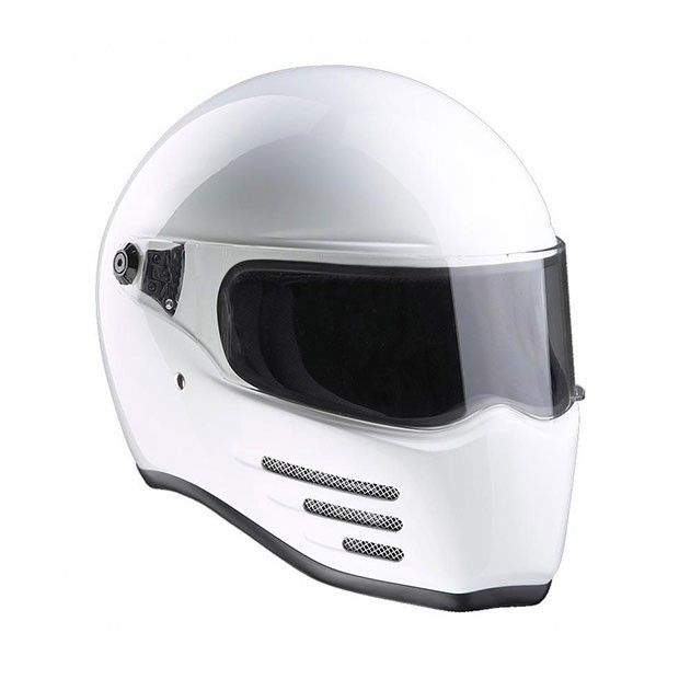 #Bandit #Fighter #White #Motorcycle #Helmet Buy yours on www.helmade.com