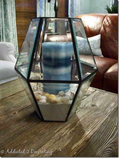 20 Reuse Ideas for Dated Brass and Glass Chandeliers via www.TheKimSixFix.com