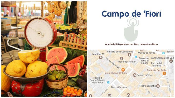 lo shopping a roma Campo de 'Fiori