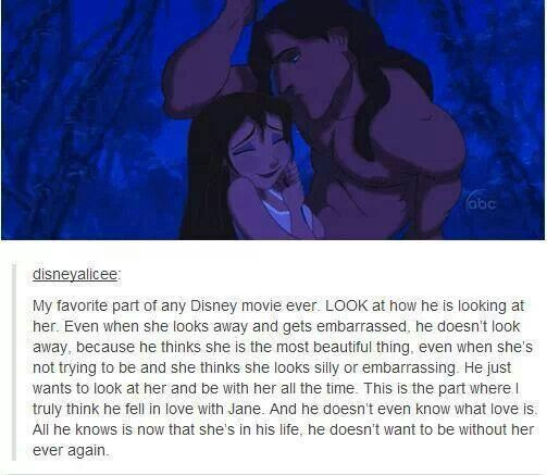 What is it with Disney guys looking at the girl when she's not looking?