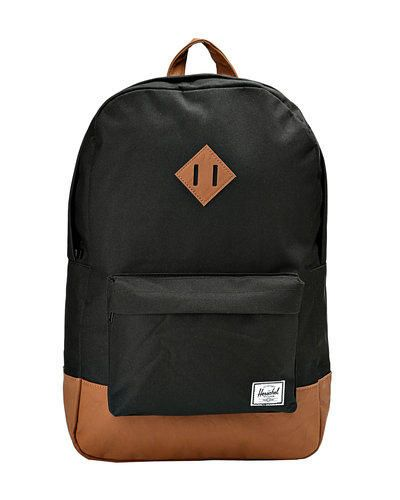 Herschel supply co. heritage zaino nero  ad Euro 73.95 in #Nero #Uomini accessori borse zaini