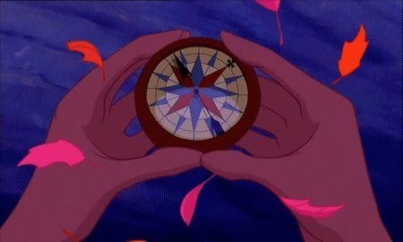 I like the idea of having the disney pocahontas compas as a tattoo together with a world map.