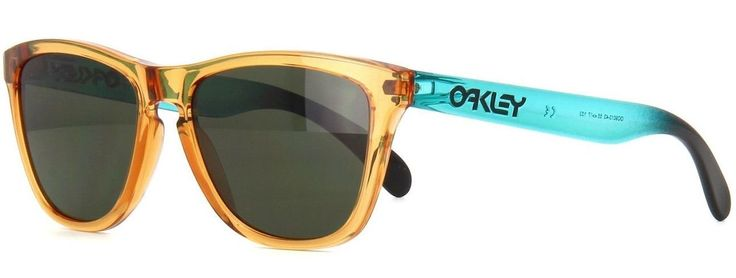 New Oakley Frogskins Sunglasses Ochre Brown Teal Surf Same Day Shipping | eBay