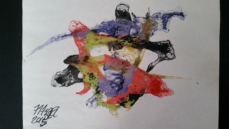 Crayon on regular paper, not canvass lol