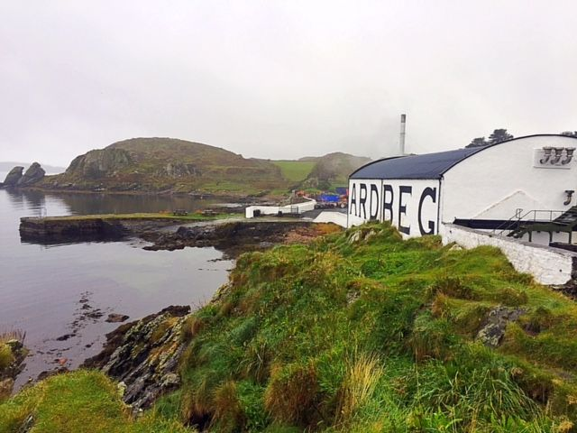 The first distillery we visited and toured while in Islay was Ardbeg. Out of all the distilleries in Islay, Ardbeg whisky is the peatiest. Their peat is peated to 50ppm (parts per million) and is s…