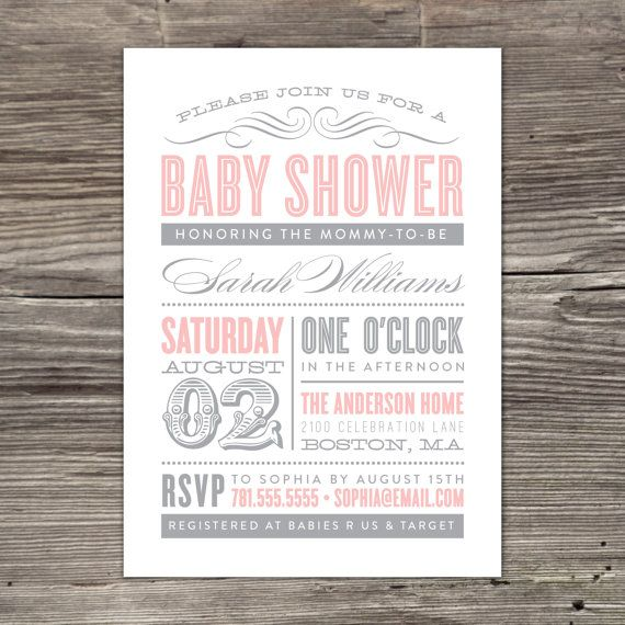 Old Fashioned Baby Shower Invitation by fineanddandypaperie, $20.00