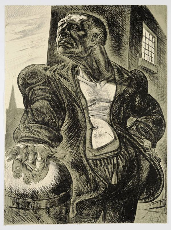 Peter Howson - The Noble Dosser, Lithograph (1987)