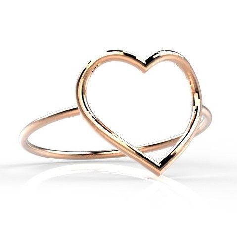 Precious D by Saddal Ring & open Heart 14k goud – Saddal jewels Amsterdam