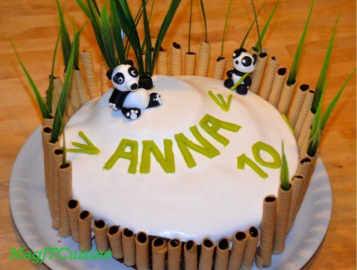 Célèbre Les 25 meilleures idées de la catégorie Panda gâteau sur Pinterest  ZT32