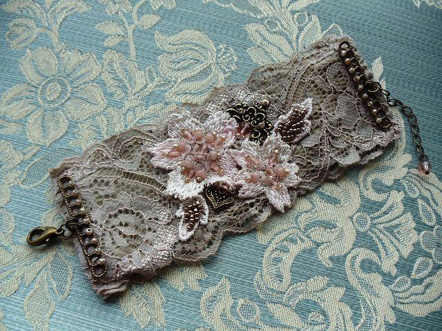Lace cuff by Angela Campos