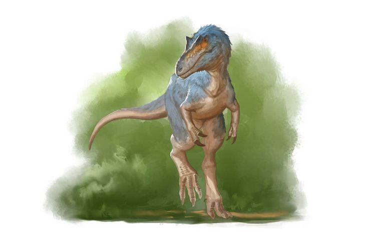 Draw Dinovember 2016 Day 28 Qianzhousaurus by daitengu.deviantart.com on @DeviantArt