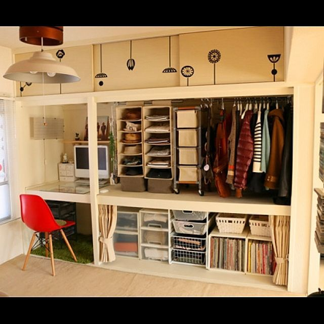 男性で、、家族住まいのみせる収納/セルフリノベ/IKEA/団地部/押入れ改造/無印良品…などについてのインテリア実例を紹介。