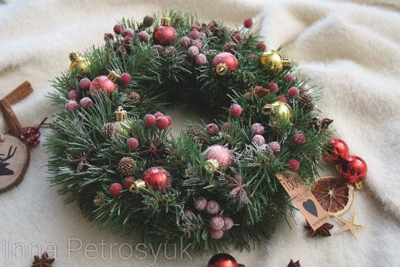 Check out this item in my Etsy shop https://www.etsy.com/listing/486306093/handmade-christmas-wreath-for-a-table