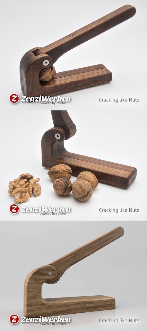 Nutcracker made from Walnut / Excenter-Mechanics