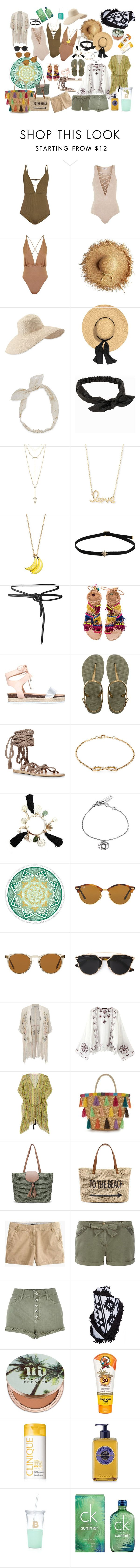 SWIMSUIT by veronic-s on Polyvore featuring Matthew Williamson, Topshop, Zimmermann, J.Crew, River Island, Miss Selfridge, Dorothy Perkins, Relaxfeel, Ancient Greek Sandals and Elina Linardaki