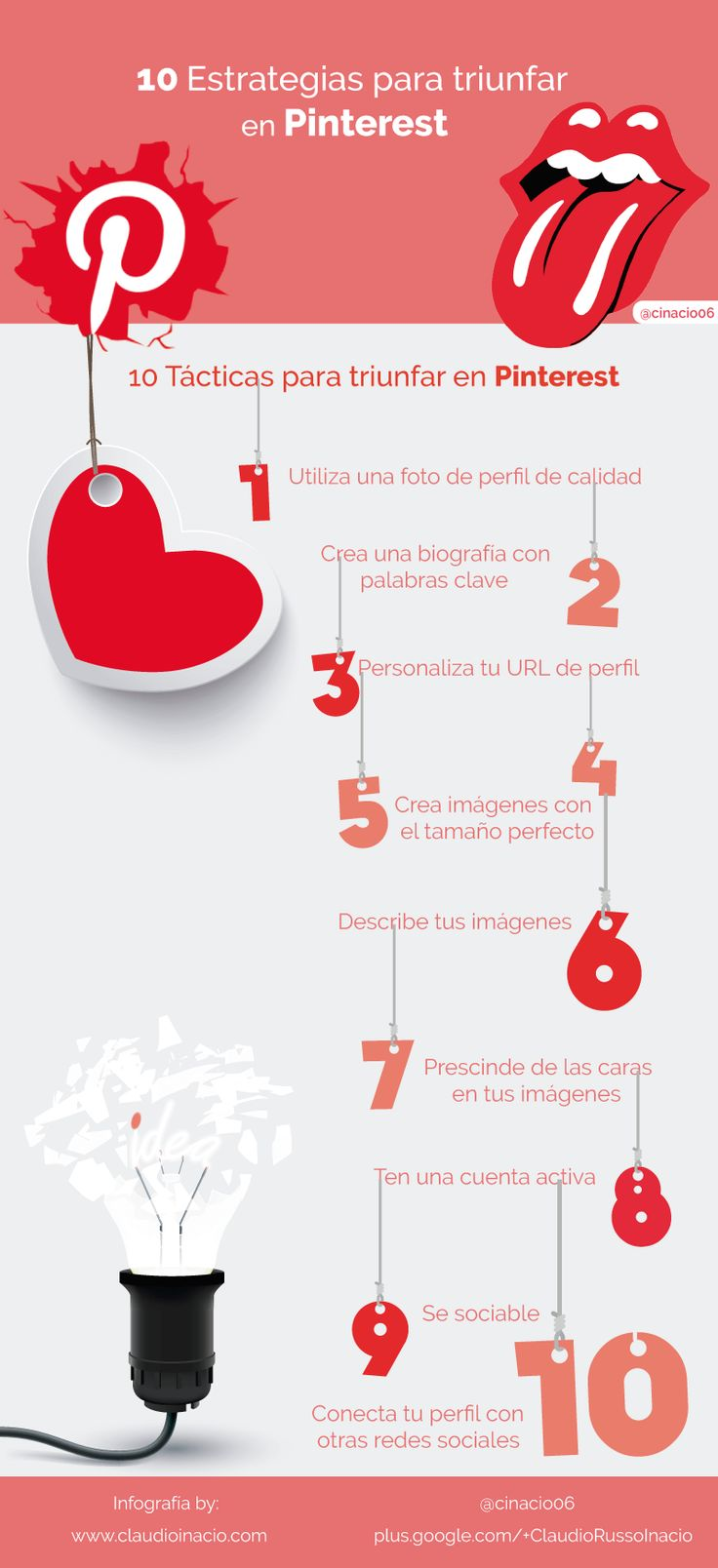 10 Estrategias para triunfar con tu perfil Pinterest #SocialMedia #Pinterest
