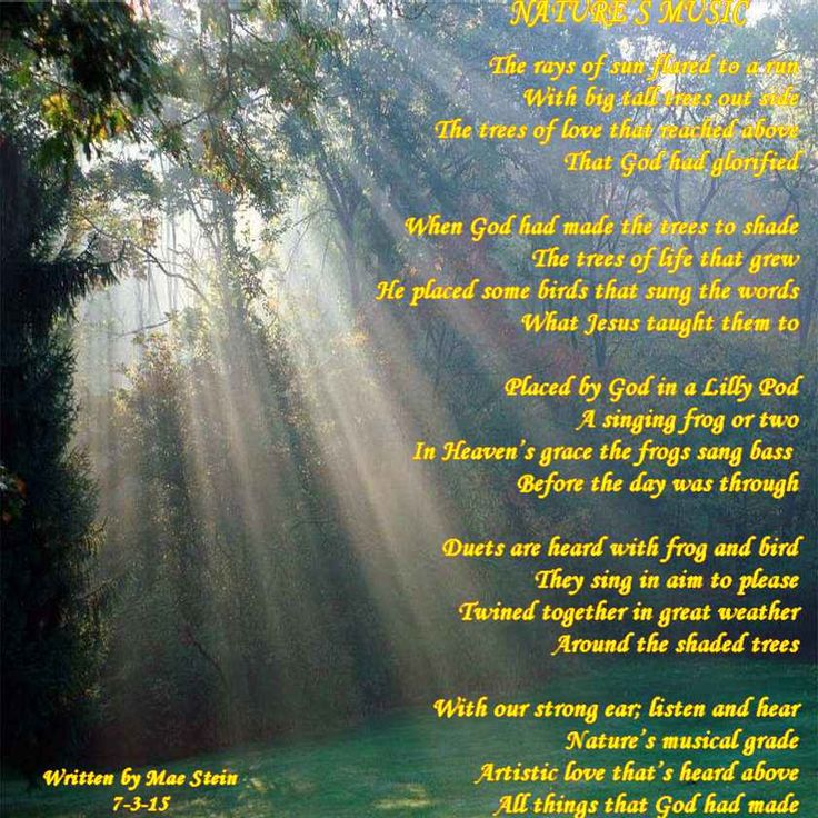 4 stanza nature poems Nature poems here you'll find poems about nature that describe its beauty the changing seasons, varying colors of the skies, the brightly shining sun, the silently glowing moon, the winds, the rains, all are manifestations of the beautiful nature.