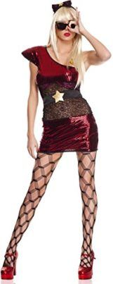 ToBeInStyle Womens 4 Pc Asymmetrical Metallic Lady Pop Star Dress Includes  Xs Tag a friend who would look good in this! #PopStar #Halloween #Costume