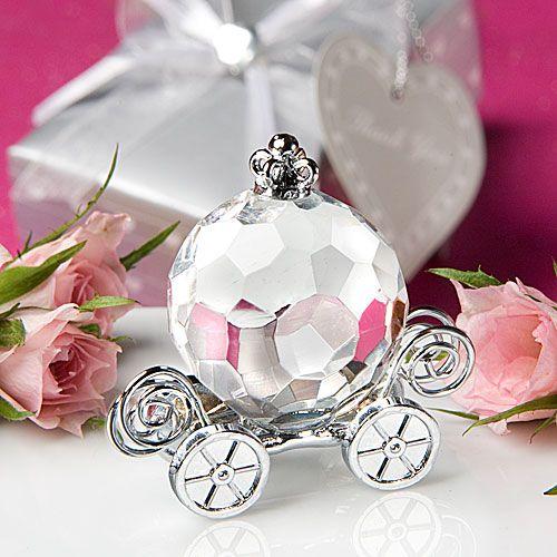 Pompoenkoets Kristal Bedankjes - Geef uw bruiloft een sprookjes thema met dit schitterende kristallen koets bedankje voor uw cinderella huwelijk bruiloft