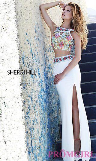 Long Two Piece Sherri Hill Prom Dress at PromGirl.com: