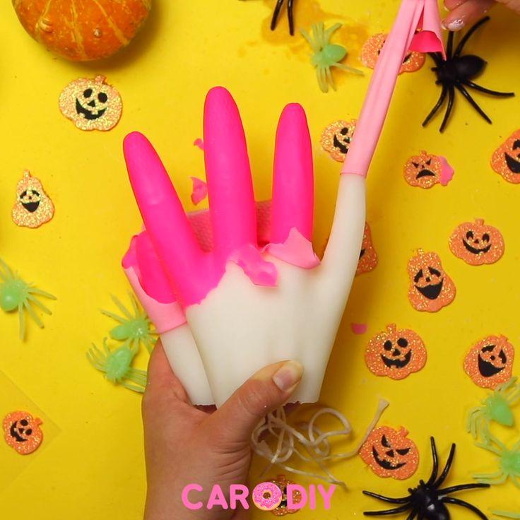 Gruseliges Halloween Kerzen DIY