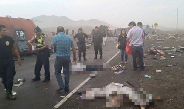 """Activan """"Alerta Roja"""" En Hospitales De Perú Tras Choque Que Dejó 40 Muertos Y 70 Heridos"""