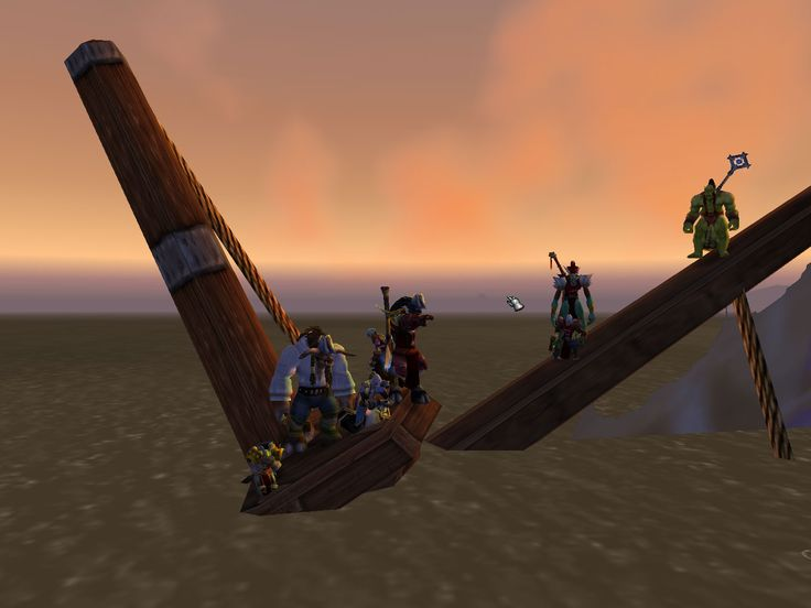 after 'the raft of medusa' by Théodore Géricault [2006] - screen-snapshot from 'World of Warcraft' - re-enactment of 'famous' artworks in an online-multiplayer game enviroment.