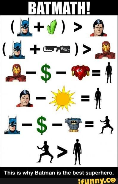 This is why Batman is the best superhero.