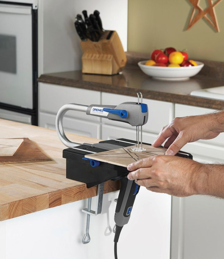 The Dremel® Moto-Saw offers a compact and easy solution for making detailed cuts in various materials, including wood, plastic, metal and more. This portable tool is easy to store, set up and operate. An auto-tensioning feature keeps the blade taut and ready to cut so you don't have to make blade adjustments. Plus, its slim, ergonomic handle with comfort grip provides control in any cutting position.