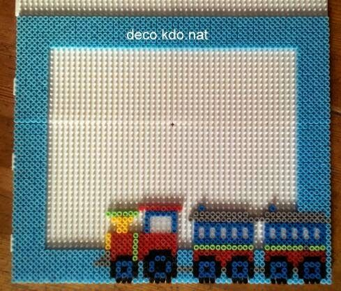 Train photo frame hama perler beads by deco.kdo.nat | HAMA BEADS 5 ...