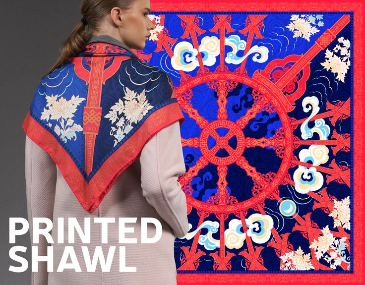 """Check out my @Behance project: """"PRINTED SHAWL"""" https://www.behance.net/gallery/50621571/PRINTED-SHAWL"""