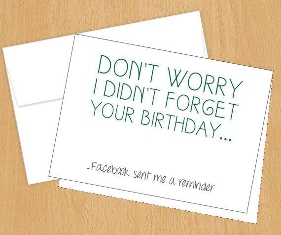 Funny Birthday Cards  Facebook Birthday Card  4bar by PlumaPaper, $3.75