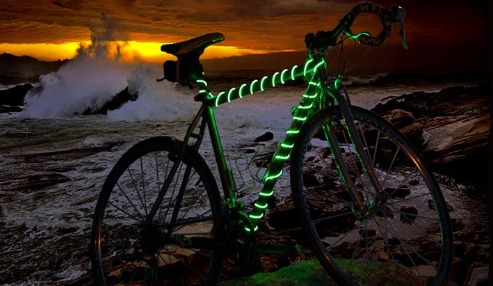 bike safety glow lightBikes Frames, Safety Lights, Bikeglow Com, El Wire, Bicycle Accessories, Led Lights, Bikes Lights, Bikes Glow, Bikes Safety