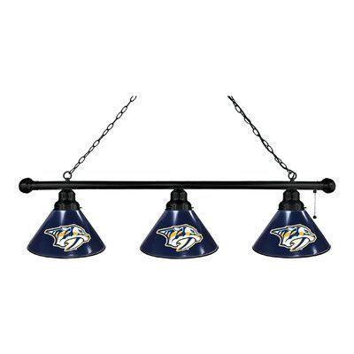 Holland Bar Stool NHL 3 Light Pool Table Light Finish: Black, NHL Team: Nashville Predators